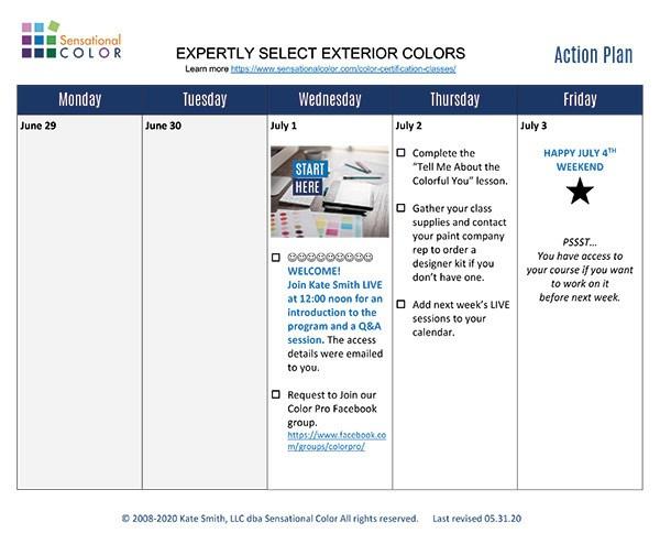 CCP Expertly Select Exterior Colors Success Plan