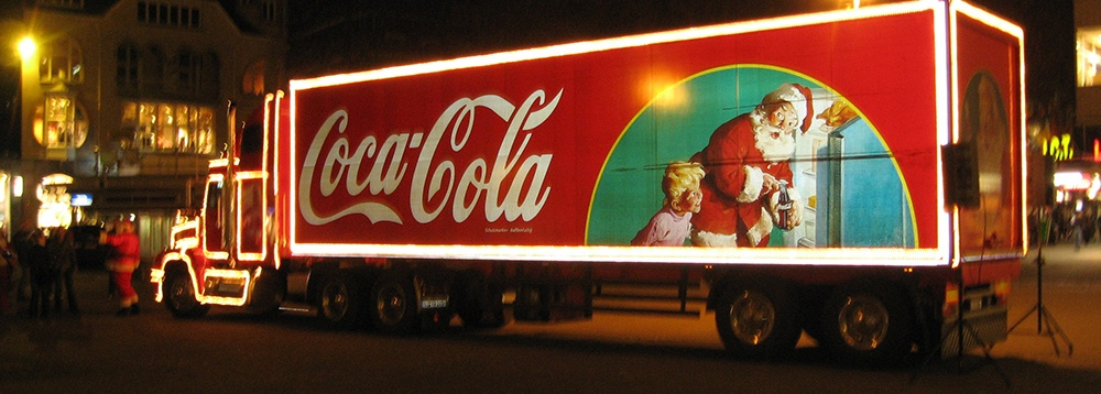 The Coca-Cola Company Truck with Santa Claus by Haddon Sundblom