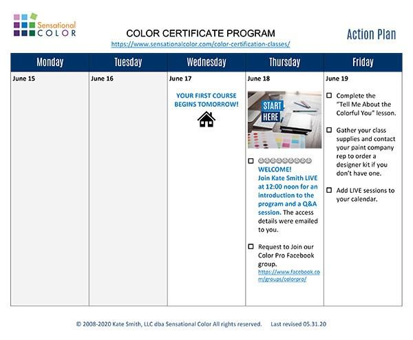 Color Certificate Program Success Plan