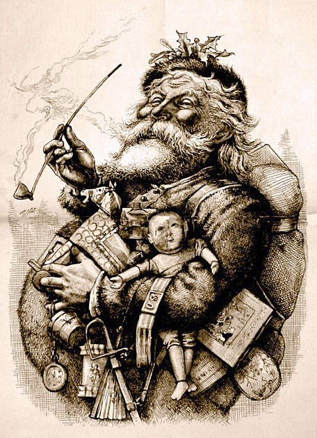 Standing Santa by Thomas Nast