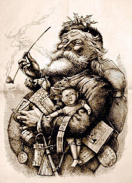 Standing Santa by Thomas Nast