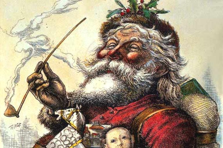 Santa's Portrait by Thomas Nast, published in Harper's Weekly, 1881